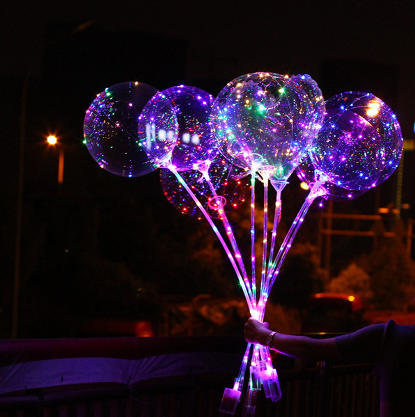 LED 빛 풍선, 문자열 조명 맑고 투명 플래시 크리스마스 발렌타인 데이 웨딩 장식과 함께 LED 라이트 업 보보 풍선