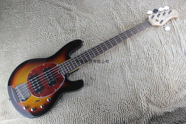 Free shipping Quality Music Man StingRay 5 strings Electric Bass sunburst MusicMan Electric Guitar initiative to pick-up