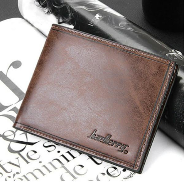Les hommes en cuir PU Pocket Wallet Card monnaie argent Porte d'embrayage Bifold Slim bourse