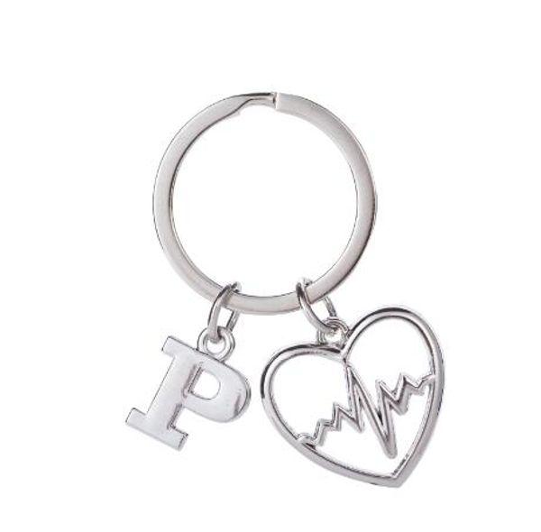 lemegeton Fishhook Wholesale Retail Fashion New Design Silver Color Heartbeat Heart Charm Custom Metal Silver Key Chain