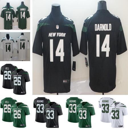2019 NEU Männer Frauen Kinder New York 26 Le'Veon Bell Trikots 33 Jalal Adams 14 Sam Darnold schwarz grün weiß Jugend American Football Jers