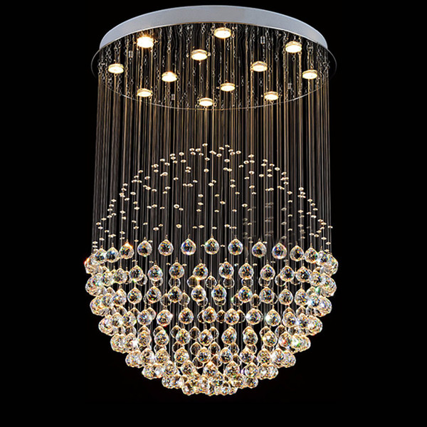Crystal LED chandelier lighting round ball design light for living room bedroom restaurant hall ceiling chandeliers kitchen lamps UPS