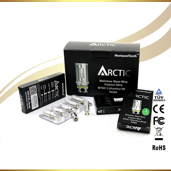 100% original Top Sale BTDC 0.5 Replacement Coils Arctic Tank Horizon BTDC Arctic Dual Coil Sub ohm replacement atomizer