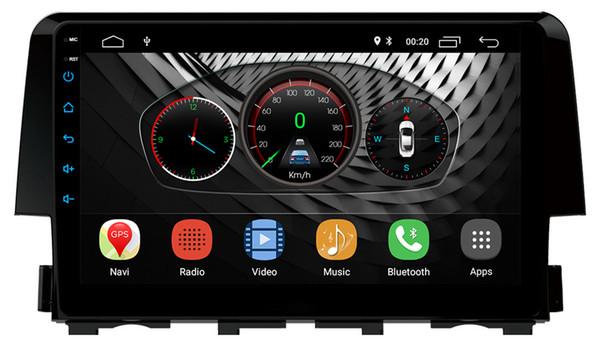 9 pulgadas Android 8.1 2 GB RAM Honda Civic 2016-17 Android Headunit DVD DVD de navegación GPS para coche con Canbus