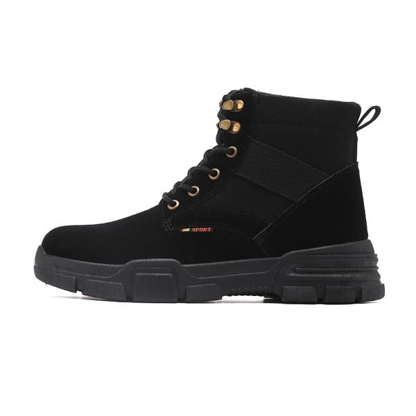 ftrochb autumn new men work shoes comfortable winter men boots outdoor non-slip desert men's boots zapatos hombre