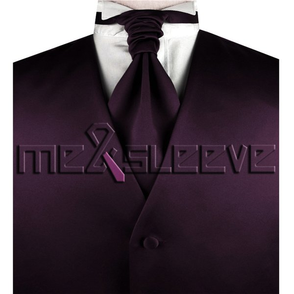 Free shipping bridegroom Suit Tuxedo plain burgundy Vest set all size