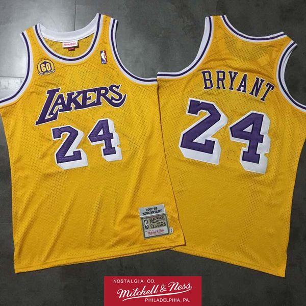 cheap for discount c18e1 ef845 2019 Retro Kobe Bryant 2007 08 60th Swingman Jersey Los Angeles Laker Retro  Basketball Jersey Mitchell & Ness Hardwoods Classics HWC Jersey From ...