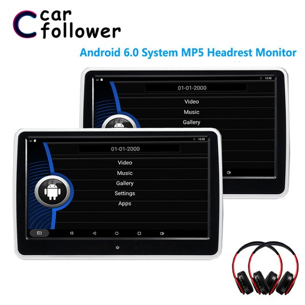 10.1 inch Car Headrest monitor Android 6.0.1 System with WIFI IPS Touch Screen MP5 Player with USB/SD/Bluetooth/Speaker