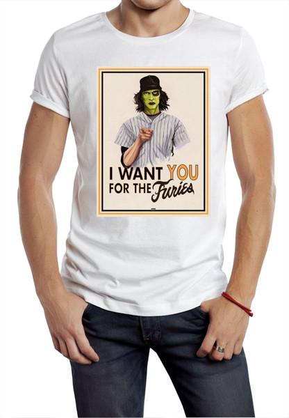 camiseta de Furies Te quiero camiseta de póster película de los años 70 80 s banda de película clásica tamaño tamaño discout nueva camiseta caliente