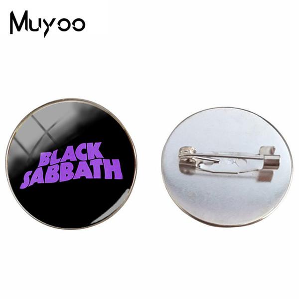 2019 New Rock Band Black Sabbath Paranoid Art Picture Pin Spilla Black Sabbath Logo Spille Vintage gioielli artigianali mano Pin