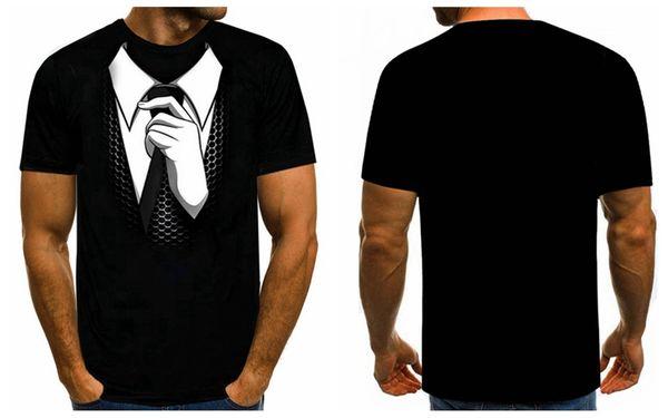 450499d12 New Fashion Womens/Mens Suit Tuxedo 3D Print funny Casual T-Shirt GT33