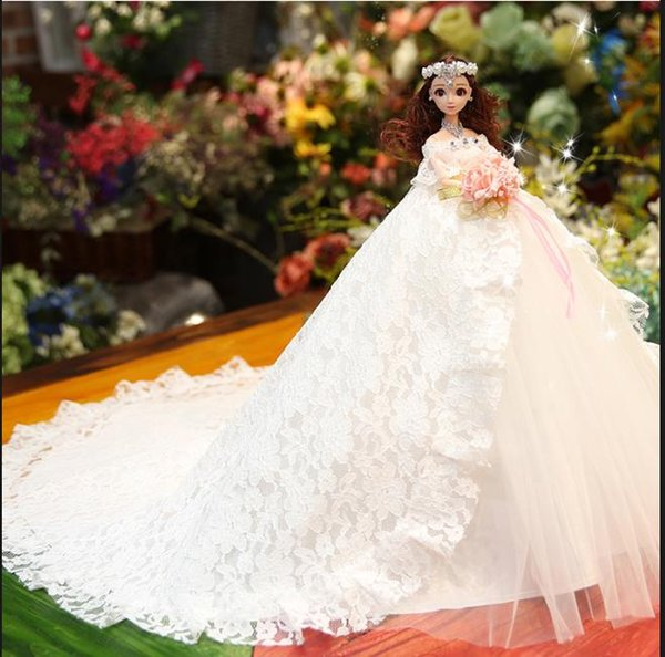 Abiti Da Sposa In Regalo.Acquista Regalo Di Nozze Regalo Di Compleanno Regalo Di Compleanno Ragazze Spose Abiti Da Sposa Adorabili Bambole Prezzo Economico 2019 A 22 11 Dal
