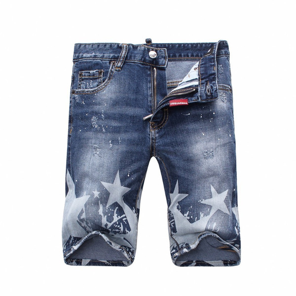 Cowboy Shorts Pants Trend Summer Heat Pin Man Full Marks In Wathet Do Used Embroidery Male