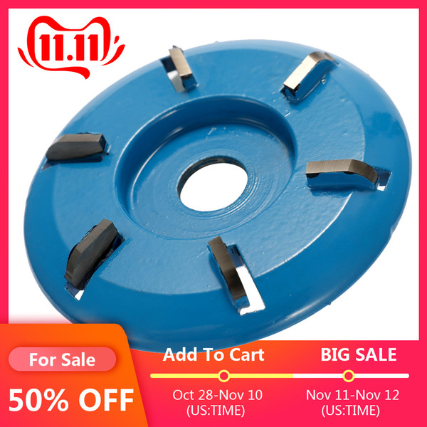 best selling Three Six Teeth Professional High Hardness Power Wood Carving Disc Tool Milling Cutter for 16mm Aperture Angle Grinder