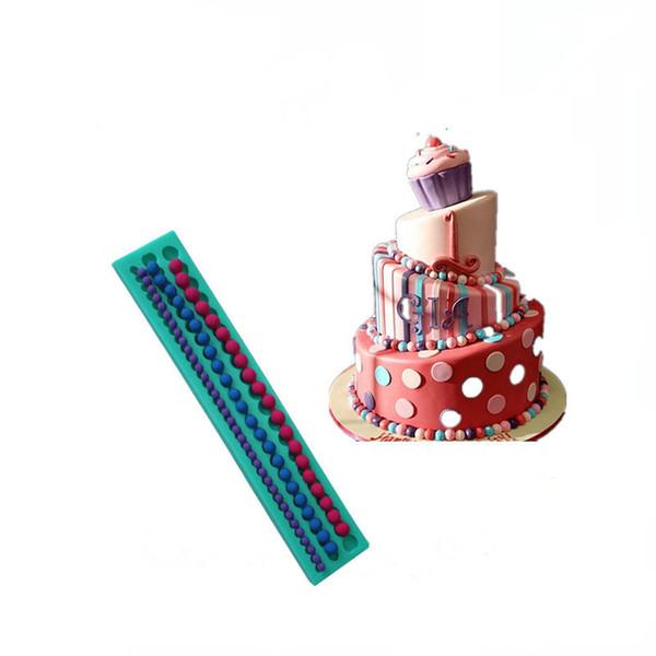 3D Длинные полосы Pearls Силиконовые торт прессформы украшения для сахара для шоколада печенья рождественские украшения помадной торт инструменты