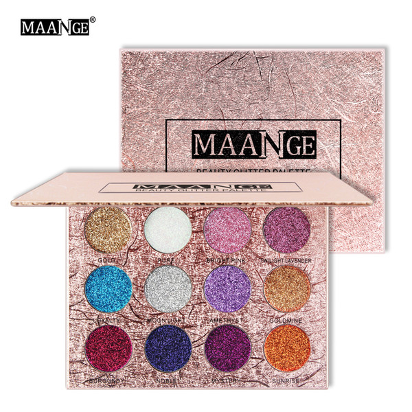 (In stock) MAANGE beauty makeup products selling 12 color with glitter powder eye shadow flash flash powder makeup eye 0047