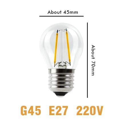 G45 전구 E27 220V