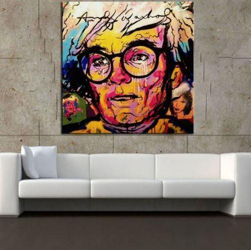 Alta calidad pintada a mano HD Print Alec Monopoly Graffiti Abstract Pop Art pintura al óleo Andy Warhol en lienzo Multi Size g243