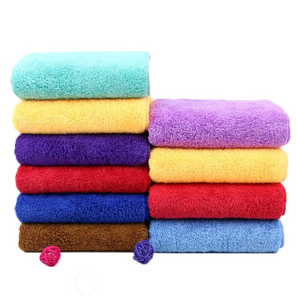 30x60CM Thicken Microfiber Fabric Towel Beauty Salons Barber Shop Towel Super Absorbent Dry Hair Face Hand Towels 13 Colors DBC VT0851