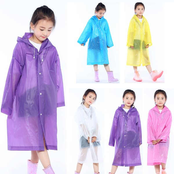 Kid Hooded Poncho Child Fashion Long Rain Coat Waterproof Windproof Raincoat Thicken Outdoor Portable Rainwear For Boys Girls DBC VT1666