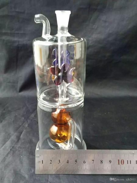 Fleurs accessoires bong en verre narguilé, verre en gros accessoires bong, narguilé en verre, tuyau d'eau fumée Livraison gratuite