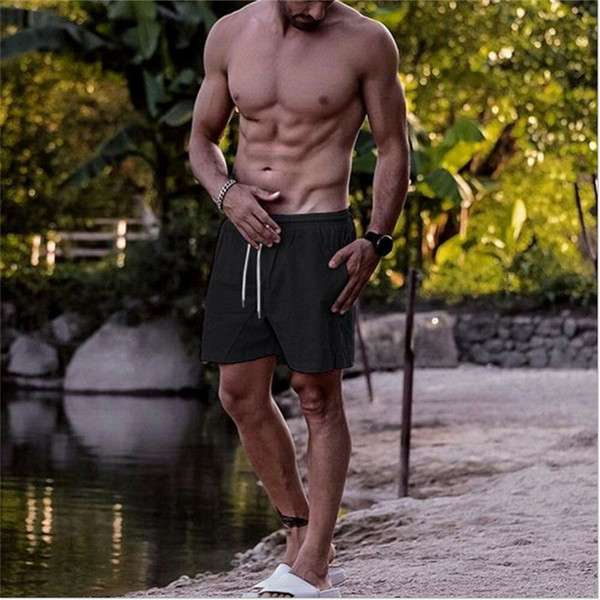 ABD Erkekler Katı Renkler Yaz Swim Şort Yüzme bavulları Plaj Pantolon Giyim