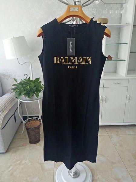 Balmain 2019 vestidos ocasionales 100% Ropa Casual duraderos para las mujeres Camisa de la camiseta Tamaño S M L