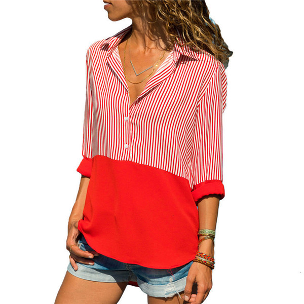 Womens Tops Blouse Woman Blouses Women 2019 Blouse And Blouses Long Sleeve Turn Down Collar Office Blouse Shirt Blusas Tunique Femme