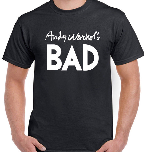 AS WORN BY BLONDIE T-SHIRT, ANDY WARHOL BAD UNISEX ANTIST INSPIRED TEE TOP Hip Hop Style Tops Tee Shirt Casual Man