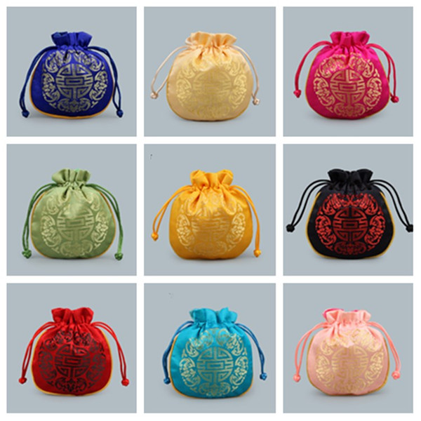 hot chinese-17 style drawstring bag,Wedding gift packaging , Jewelry Pouches Bags, storage bag, gift wrap T2C5021