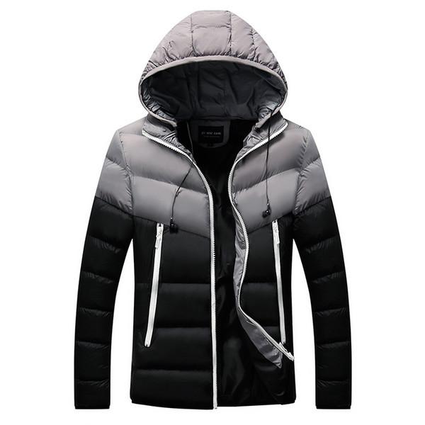 Winter Männer Dwon Jacke Mode Herren Baumwolle Dick Thermal Parkas Hoodies Mäntel Männlich Casual Outwear Windbreaker Jacken