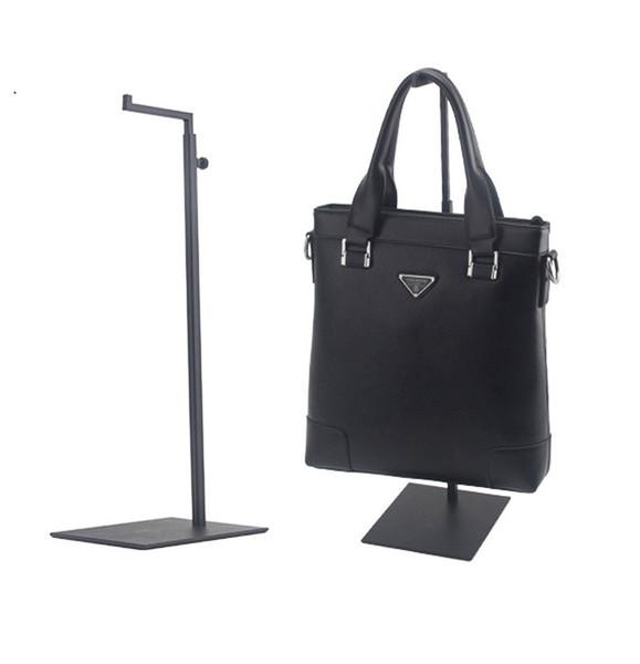 Schwarz Einstellbare Handtasche Stand Display Metall Handtasche Display Rack Frauen Tasche Display Halter Fabrik großhandel LX1427