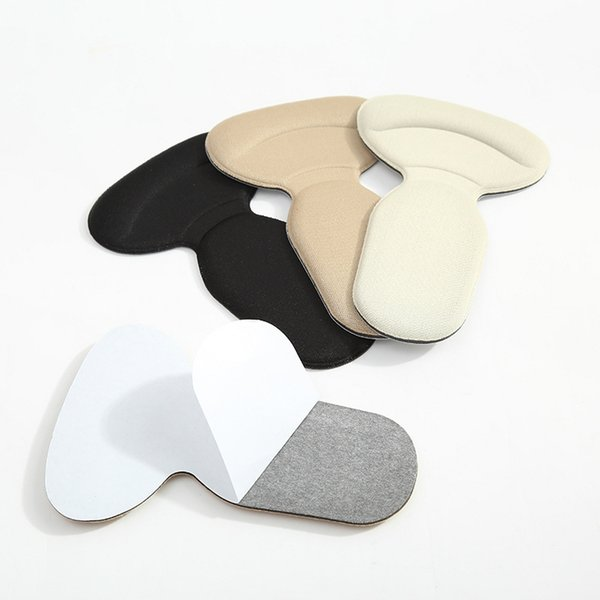 DHL/UPS T-Shape Foot Heel Pads Anti Slip Cushion Foot Heel Protector Liner Silicone Gel High Heel Insole for Feet Care Tool