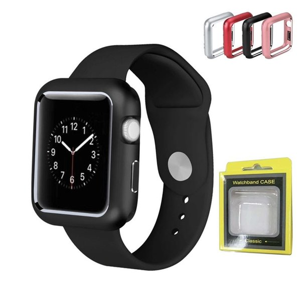 Magnetic Adsorption Metal Aluminum Frame Protective Case for Apple Watch 38MM 42MM Series 1 2 3 4 Watch Cover Bumper 40MM 44MM