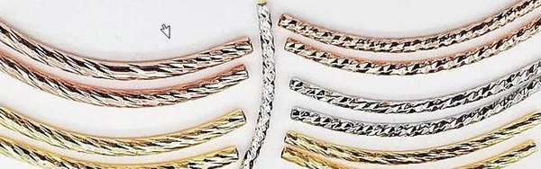 Tube Beads Spacer curve Bent Tubing Bracelet Materia pipe decorative Moon connector Bangle necklace pendants components