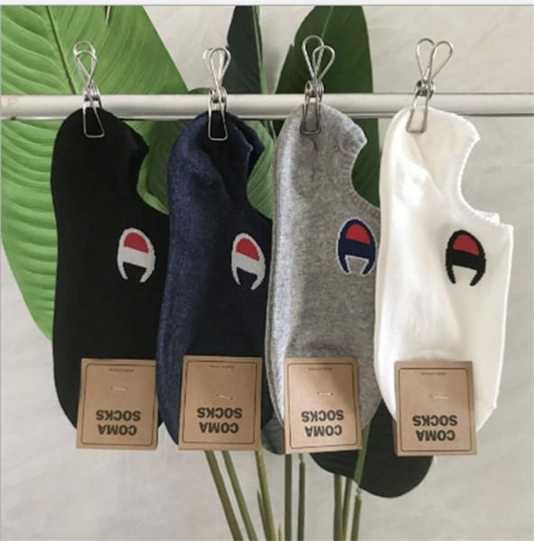 Campeón de las mujeres Calcetines invisibles de diseñador Calcetines cortos para barco Calcetines deportivos de verano de lujo Calcetines para barco Calcetines cortos de marca para niñas Calcetín de algodón B81903