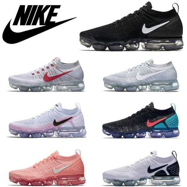 best selling 2019 Vapors 2018 2.0 Rainbow Air Designers BE TRUE Woman Shocks Black White Fly Knitting Sports Sneakers Max 2 Men Trainers Running Shoes
