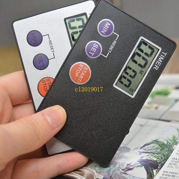 200pcs/lot Timer Countdown Pocket Kitchen Study Rest Kitchen Cooking ( Credit Card Size )