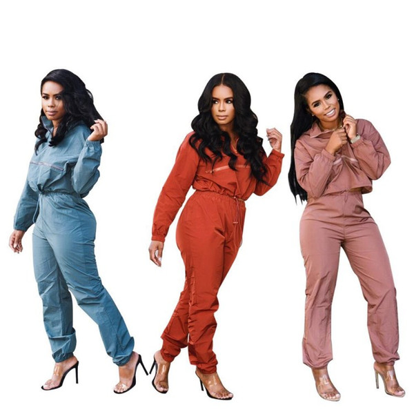 Womens long sleeve outfits 2 piece set tracksuit jogging sportsuit hoodie legging sportswear sweatshit tights sport suit hot 0176