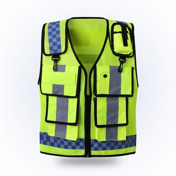 Refletivo colete Tráfego aviso Administração Rodoviária veículo roupas fluorescentes uniforme veste Segurança revestimento protetor Segurança