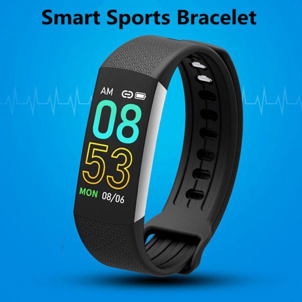 Farbbildschirm Herzfrequenz Smart Watch Männer Frauen Fitness Sportuhr Fernbedienung Foto Blutdruck Pedometer Smartwatch