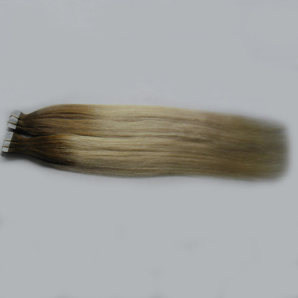 Tape In Human Hair Extensions 100g Skin Weft Ombre Real Human Hair 2.5 Grams Per Piece 40 Pieces Per Package Glue in Hair Extensions