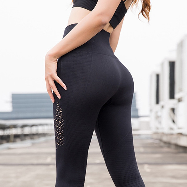 WANAYOU Mujeres Pantalones de Yoga Deportes Correr Ropa Deportiva Elástico Leggings de Fitness Control de la Barriga Gimnasio Medias de Compresión Pantalones Pantalones # 799399