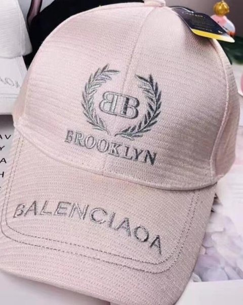 Marque Hot Ballllenciaga femmes hommes Plain Blank Snapback chapeaux noir de mode Snapbacks Snap Back Strapback Casquettes Chapeau noir blanc rose