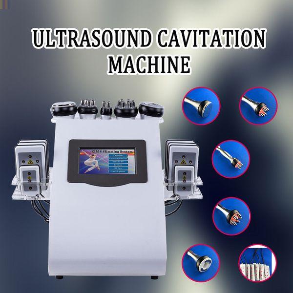 6 in 1 40-kHz-Kavitation Cellulite-Fettabbau, der Maschinen-Ultraschalltherapie-Vakuum-Rf abnimmt Ausrüstung abnimmt