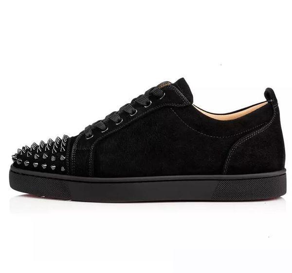 2019 Ace Red Designer inferior Luxo Marca Studded Spikes Flats Casual Shoes sapatos para homens e amantes Mulheres partido couro genuíno Sneakers V3