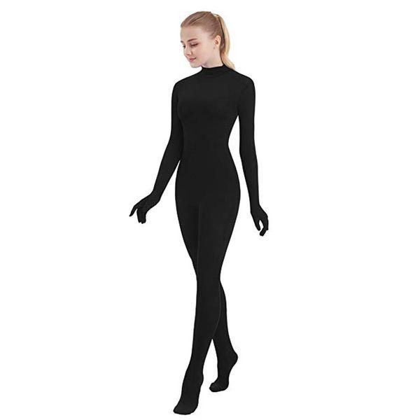 SPEERISE Adult Full Body Unisex Zentai Black Lycra Spandex Skinny Tight Jumpsuits Suit for Women Unitard Man Cosplay Costumes