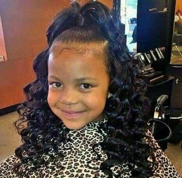 Little Girl Kids Drawstring Ponytail Deep Curly Wave Human Hair Extension Black Hair Natural Wave Ponytail Hairpiece 120g Hairstyles In A Ponytail