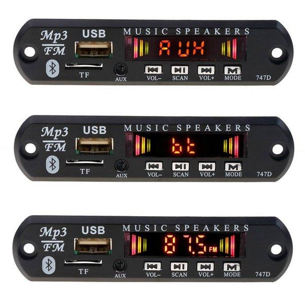 DIY Kit Car Mp3 Player Bluetooth Modificação Do Carro Receptor FM Sem Fio Mp3 Player Decoder Board USB 3.5 MM música Speaker
