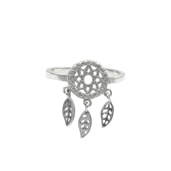 2019 New Product Japanese and Korean Feather Mouth Ring 925 Silver Diamond Dreamnet Ring Fashion Decorations
